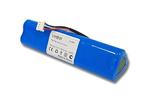 vhbw Batería reemplaza Fluke BP-190, BP190, B11432 para osciloscopio, instrumento de medición (3600mAh 7,2V NiMH)