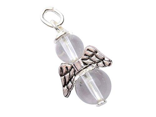Engel-Anhänger echt Silber Edelstein-Perle Bergkristall Erzengel Gabriel Schutzengel handgemacht