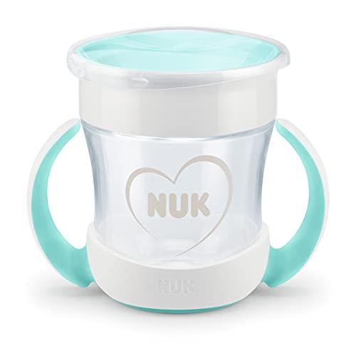 NUK Mini Magic Cup taza para sorber | Borde a prueba de derrames de 360° | +6 meses | Asas para facilitar la sujeción | Sin BPA | 160ml | Blanco