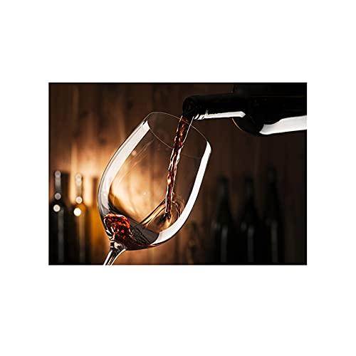 YINGFUN Lienzo de vino tinto con caligrafía, carteles e impresiones para pared, para restaurante, comedor, decoración moderna (color: I, tamaño: 40 x 60 cm, sin marco)