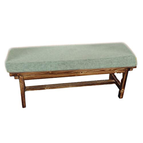 Yzzlh Cojín de espuma premium de 5 cm de grosor, muebles de patio, columpio, asiento trasero de coche, tumbona/viaje/zapatero, cojín de banco de 2 asientos de 3 plazas, color verde claro, 30 x 100 cm.