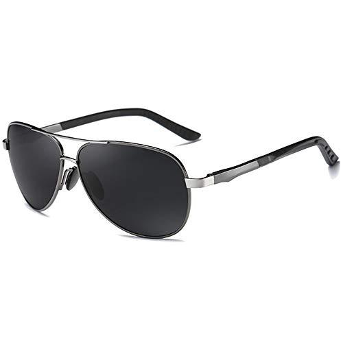 MGWA Gafas de sol polarizadas de moda y versátiles, material de policarbonato, gafas de sol negro/verde, montura de pistola para hombres y mujeres con...