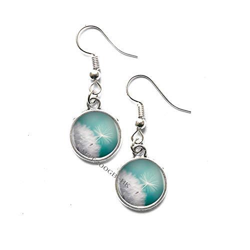 Dandelion Logo Dangle Earrings Earrings Charm Handmade Earrings Dangle Earrings Earrings Women Jewelry Friend Gift-MT252