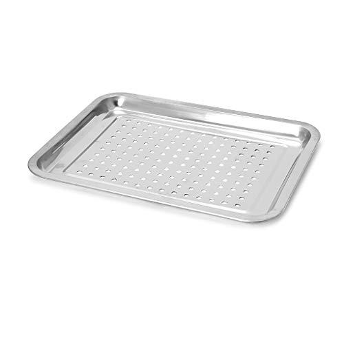 Yintiod RVS lekvrije tray rechthoekige plaat barbecue gegrilde vis BBQ voedsel container