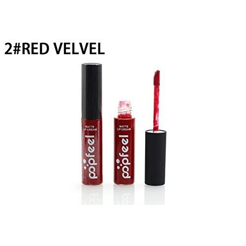 Lippenstift-Neue LippenwäSche-MattflüSsiger Lippenstift-Wasserdichtes Lipgloss-Make-Up 12 TöNe