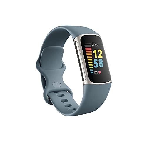 Fitbit Charge 5 Pulsera de actividad con 6 meses de servicio Premium incluidos, hasta 7 días de batería y función, Nivel de recuperación diario