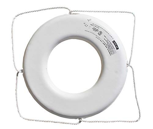 Cal June USCG Approved No Strap Ring (24- Inch, Diameter White) - GW-X-24
