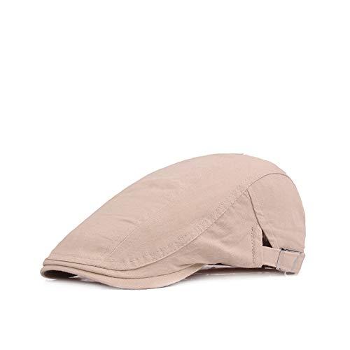KINDOYO Cotton Beret Cap - Größe einstellbar Retro-Hut für Männer und Frauen, Beige