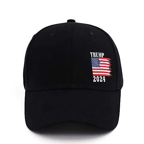 Bestmaple Donald Trump 2024 Gorra American Flag Snapback Presidente USA Gorra de béisbol, Negro, S/4XL