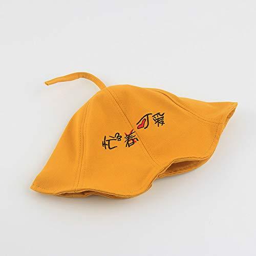 mlpnko Kinder Hut Fischer Hut Sonnenblende Mütze Hut Baumwolle gelb 1-3 Jahre alt