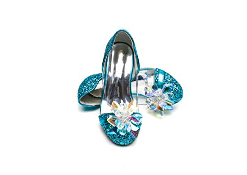 ELSA & ANNA® Gute Qualität Mädchen Schuhe Prinzessin Schnee Königin Gelee Partei Schuhe Sandalen BLU14-SH (Euro 25 - Innenlänge: 16.6cm, BLU14)