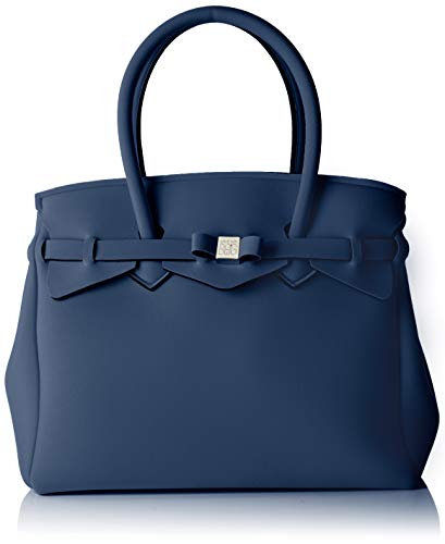 Save My Bag Damen Miss Plus Schultertasche, Blau (BALENA BAL), 34x29x18 cm