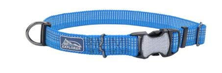 K9 Explorer Brights Reflective Adjustable Dog Collar - Lake - Small