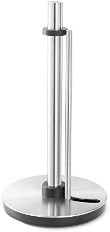 ZACK 20707 Lingo Küchenpapierhalter mit Abrollstop, Edelstahl matt