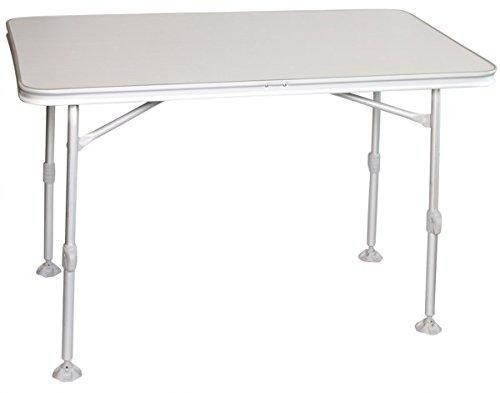 Bel Sol Alu Klapptisch Campingtisch mit Kunststoffplatte Tisch 115 x 70