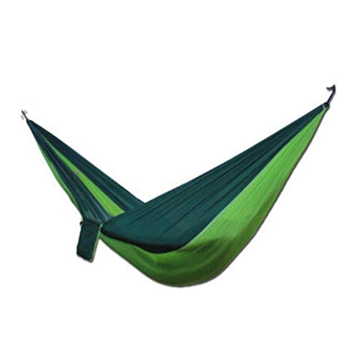 KAIGE Hamac balançoire en Parachute en Nylon Tissu Double Jardin Adapté for Camping en Plein air Voyage Voyage WKY ( Color : Dark Green Fruit Green )