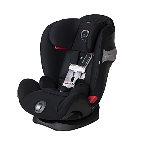Cybex Eternis S, All-in-One Convertible Car Seat, Use from Birth to 120 lbs, (Non-SensorSafe) Reclining 12-Position Height-Adjustable Headrest, Side Impact Protection, Lavastone Black