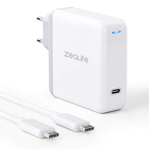 USB C Wall Charger, USB C Charger for MacBook Pro 2018, MacBook Air, 61W USB C Power Supply Charger for 2018 iPad Pro 12.9, iPad Pro 11, Thunderbolt 3 Charger with 6.6 Feet USB C to C Cable
