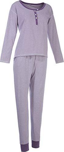 laritaM Schlafanzug Single-Jersey violett Größe 36/38