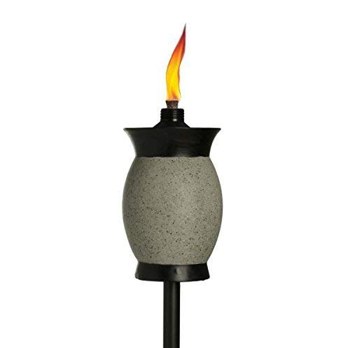 TIKI Brand 64-inch Resin Jar Torch 4-in-1, Graphite Gray