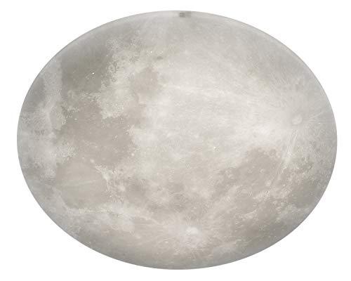Trio Leuchten LED Deckenleuchte Lunar 627516000, Acryl mit Mondmotiv, Mondphase wechselbar, 1 x 40 Watt LED, Helligkeit einstellbar, Nachtlich Funktion, inkl. Fernbedienung