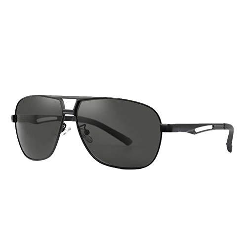 DovSnnx Unisex Polarizadas Gafas De Sol 100% Protección UV400 Sunglasses para Hombre Y Mujer Gafas De Aviador Gafas De Ciclismo Ultraligero Toad Espejo Marco Negro Lente Gris