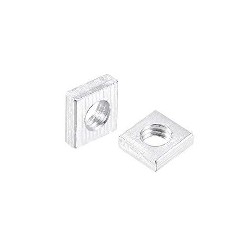 uxcell Square Nuts, M4x7mmx2mm Zinc-Plated Metric Coarse Thread Assortment Kit, 200 Pcs