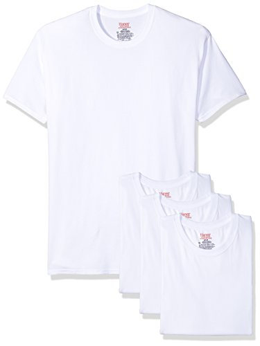 Hanes Ultimate Men's 4-Pack FreshIQ Stretch Crew, White, X-Large