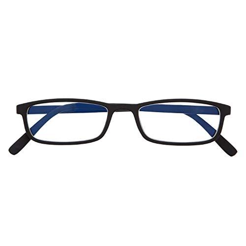 DIDINSKY Blaulichtfilter Brille für Damen und Herren. Blaufilter Brille mit stärke oder ohne sehstärke für Gaming oder Pc. Gummi-Touch-Tempel und Blendschutzgläser. Graphite +1.5 – ARKEN SCREEN