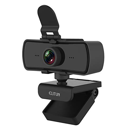 2k Webcam with Microphone,ELITUN E03 Computer Camera for Desktop Laptop,Full HD Wide Angle USB Streaming Camera with Privacy Cover for Video Conferencing, Teaching, Streaming and Gaming