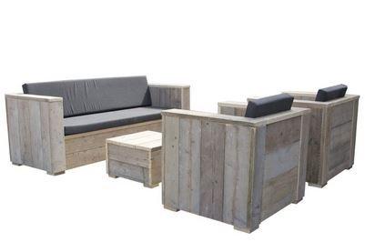 varista Bauholz Block Lounge Bank Set