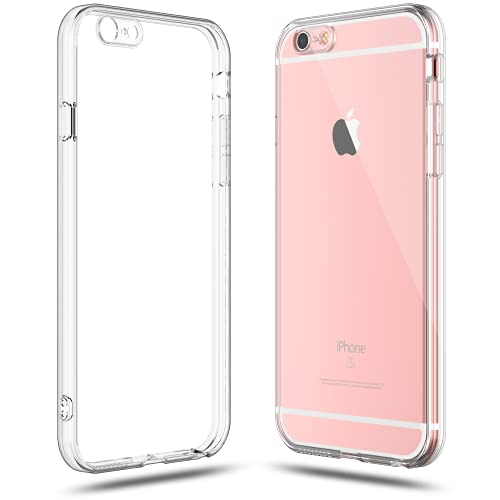 Shamo's iPhone 6s Case and iPhone 6 Case Crystal Clear Shock Absorption TPU Rubber Gel Transparent (Clear)