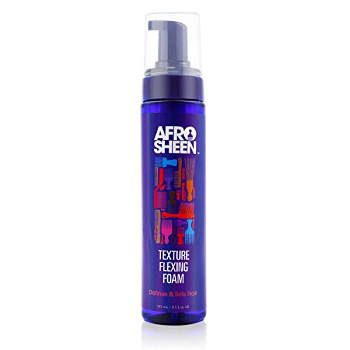 Afro Sheen Texture Flexing Foam. For hydration, curl definition and shine. 8.5 Oz.