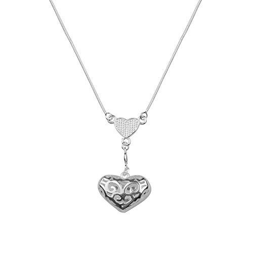 NYKKOLA nuova Fashion Jewelry-Ciondolo in argento Sterling 925, finitura lucida, collana con ciondolo, perline e nappe, 2 pezzi