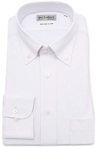 [アイシャツ] i-shirt 完全ノーアイロン ストレッチ 速乾 レギュラーフィット 長袖 アイシャツ ワイシャツ メンズ オフホワイト 長袖ボタンダウン 無地 M151190023 日本 LL86(首回り43cm×裄丈86cm) (日本サイズ2L相当)