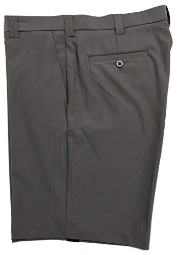 """Roundtree & Yorke Performance 9"""" Flat-Front Stretch Shorts S75HR602 Quiet Shade Size 40"""