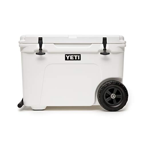 YETI Tundra Haul Portable Wheeled Cooler, White