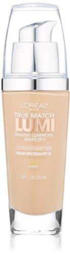 L'Oreal Paris True Match Lumi Healthy Luminous Makeup, W3 Nude Beige,...