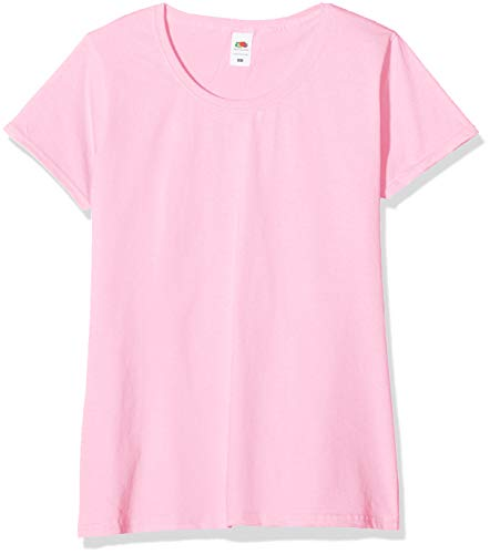 Fruit of the Loom Valueweight T-Shirt 5 Pack Camiseta, Rosa (Light Pink 52), M (Pack de 5) para Mujer