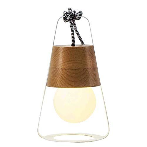 Lámpara de escritorio de doble uso lámpara de mesa de madera creativa simple moderna para decoración barra estudio dormitorio lámparas de escritorio-A 28x12cm (11x5inch)