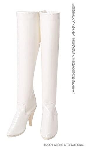 1/3スケール用 AZO2ロングブーツ エナメルホワイト (ドール用)