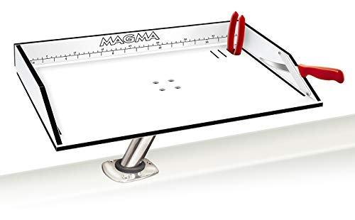 Magma Products, T10-312B Combination Bait/Filet Mate Table with Levelock Rod Holder Mount, 20 Inch x 12-3/4 Inch