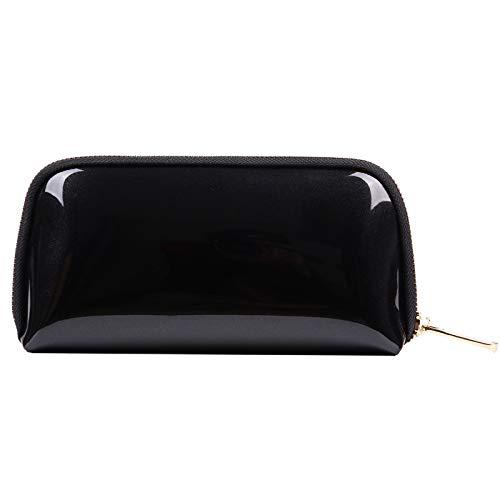Sac de rangement de voyage trousse de toilette sac cosmétique femme pvc shell cosmétique sac 22 * 5 * 11 CM noir