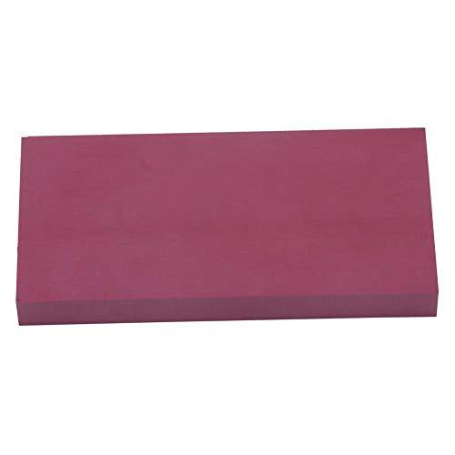 Grindstone 10.4 cm x 5.8 cm x 0.4 cm natural portátil afilar piedra afiladora afiladora herramienta para tijeras de cocina (3000 # rojo)