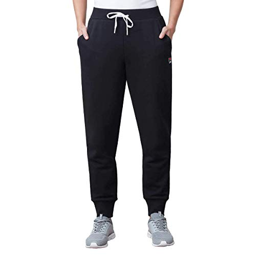 Fila Ladies' Heritage French Terry Jogger (Black, Small)