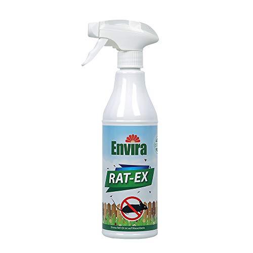Envira Rat-Ex - Ratten-Abwehr-Spray Mit Vertreibender Wirkung - Hochwirksames Mittel Auf Wasserbasis - 500 ml