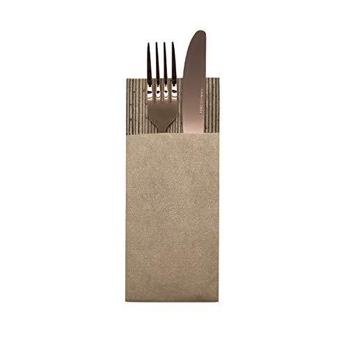 LA PAJARITA Servilletas canguro color ecológico 40x32cm | 40 unidades | Servilletas para cubiertos | Bamboo | Servilletas hostelería | Tintas Ecológicas