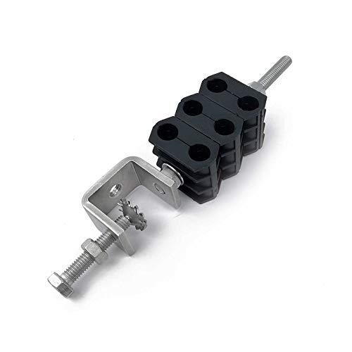Silex Grapa Morseto de amarre exterior para cable coaxial Triple Ext 2x3/8' SXCL383E2