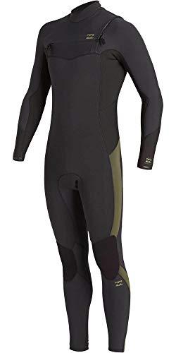 Billabong Mens Absolute 5/4mm Chest Zip GBS Wetsuit - Antike Black - thermische warme Wärme legere Furnace Leicht Futter