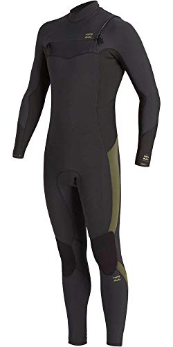 NA PALI SAS, Hossegor - BILLABONG Herren Absolute 4/3mm GBS-Chest-Zip Neoprenanzug für Männer, Antique Black, L
